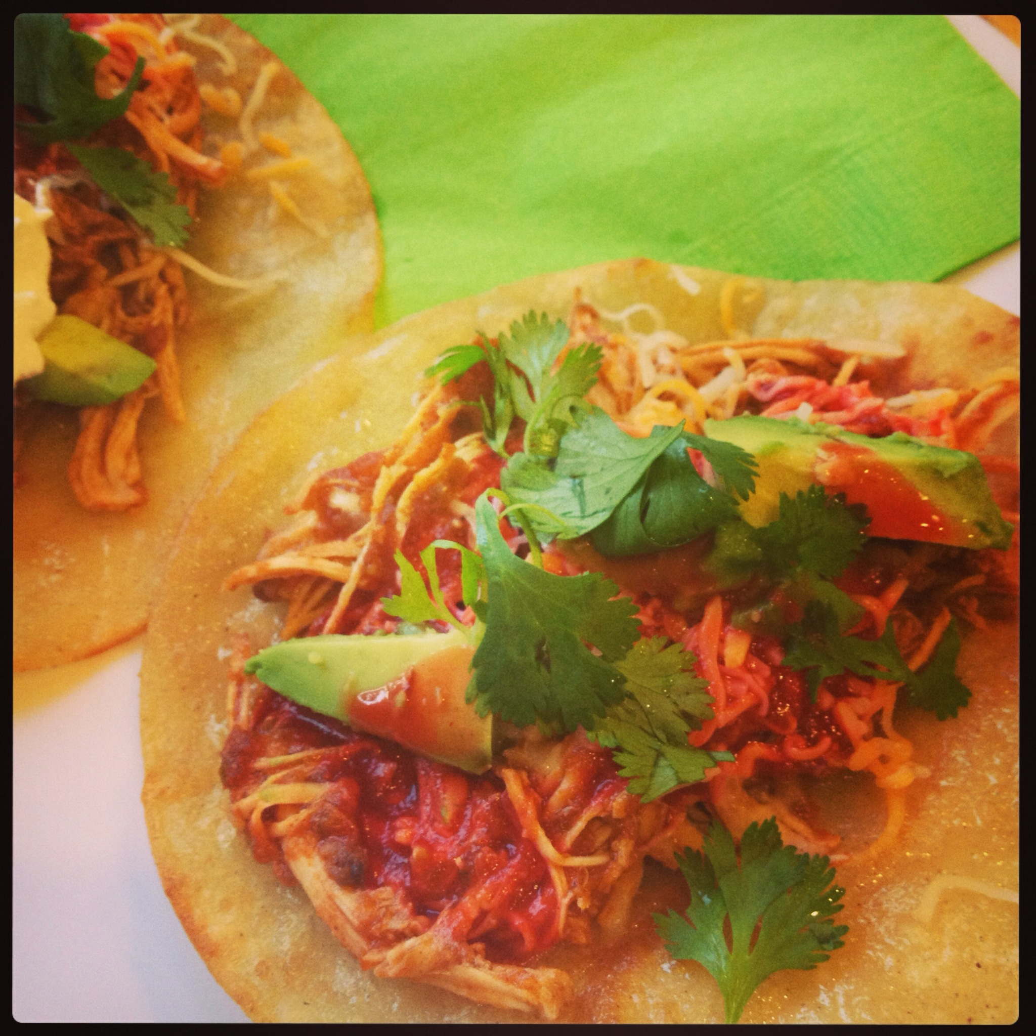 shredded chicken tacos xl